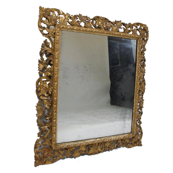 Antique Italian Giltwood Mirror