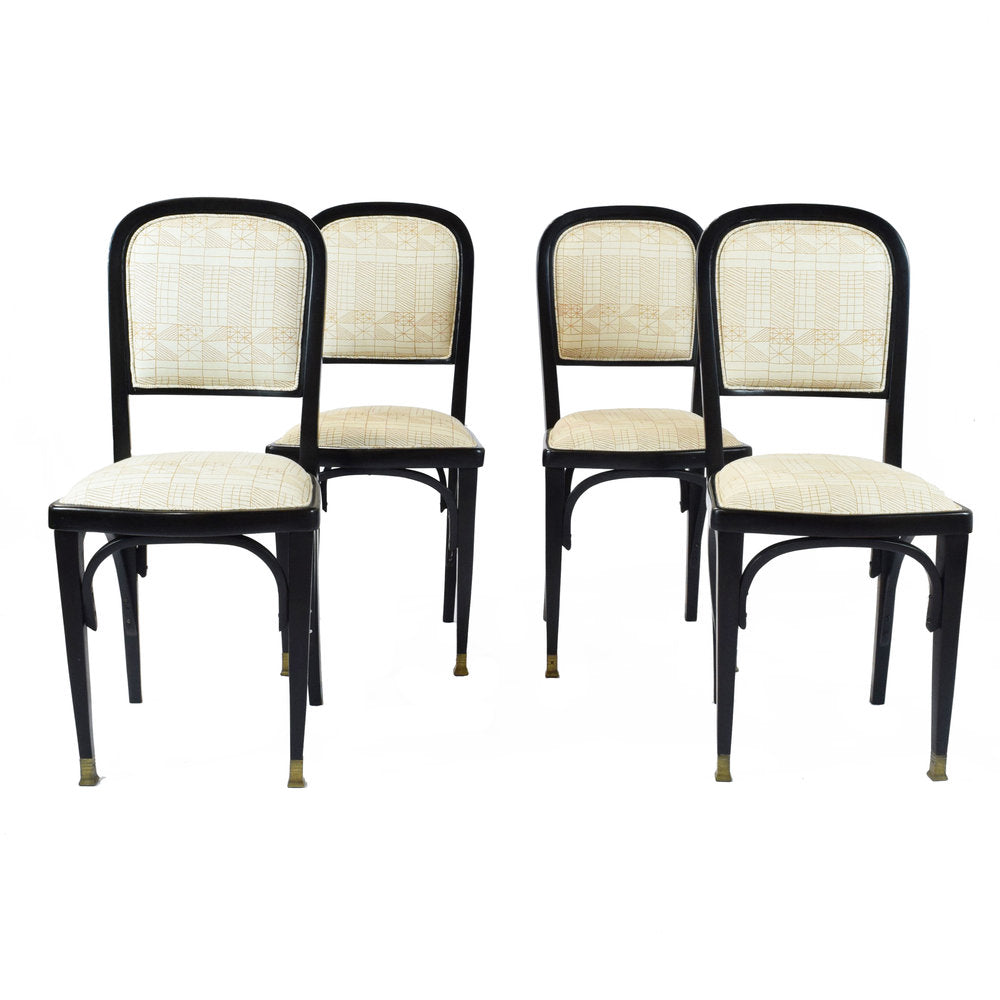 A set of four Vienna Secession side chairs by Gustav Siegel