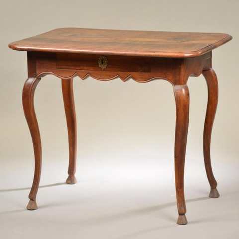 Louis XV Period Provincial Walnut Writing Table