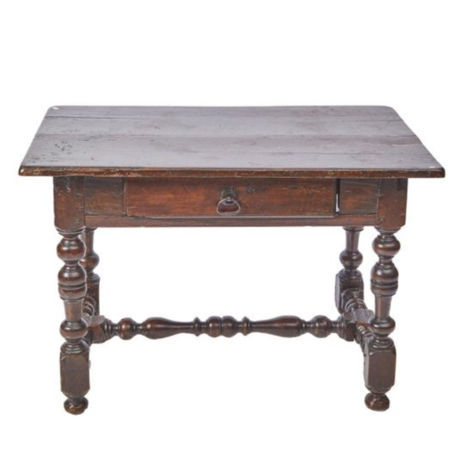 Louis XIII Provincial Walnut Side Table