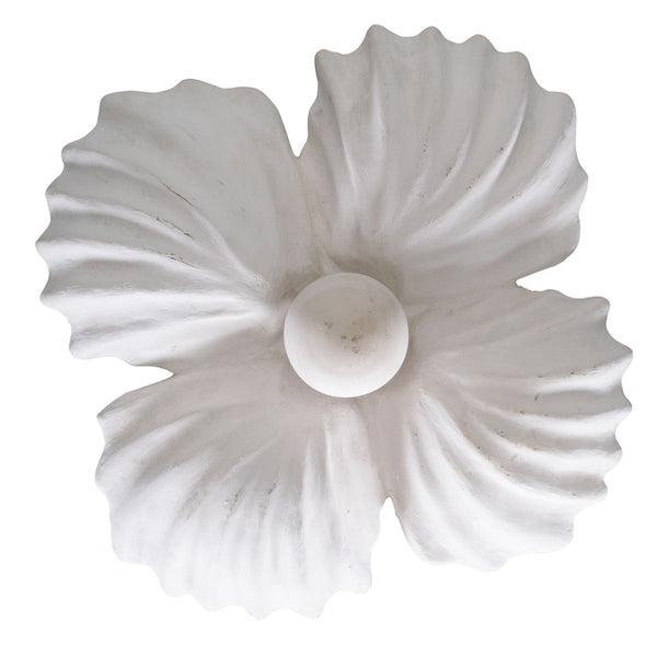 A Plaster Shell Pendent in the style of Jean Charles Moreux