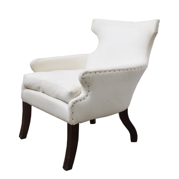 An upholstered Gustavian Style Armchair