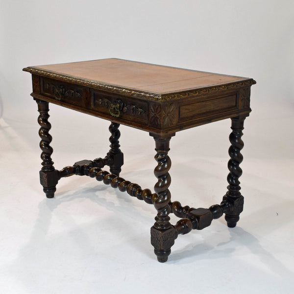 Antique French Henri II Style Oak Desk