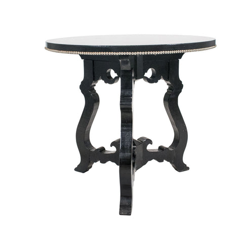 A Spanish style Ebonised Side Table