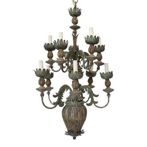 18th Century Italian Tole Chandelier