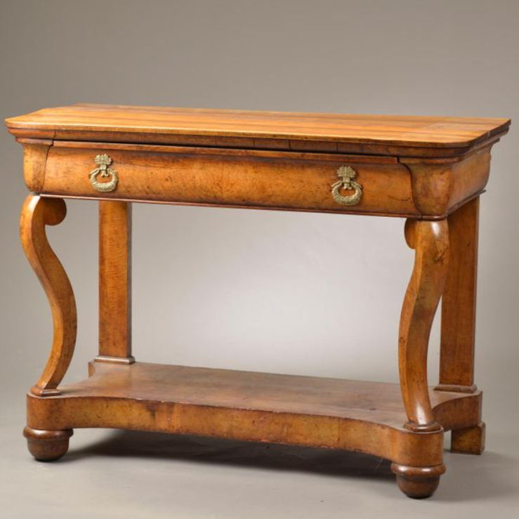 A Charles X Walnut Console Table