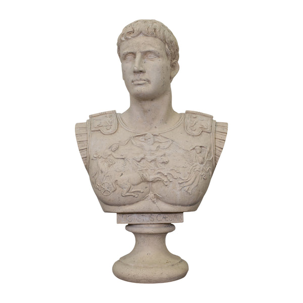 Bust of Augustus Caesar with a Stone Finish