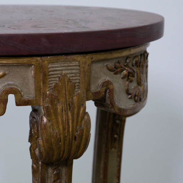 Louis XVI gilded and Painted Side Table
