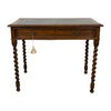 Antique English Oak Desk with barley Twist Legs