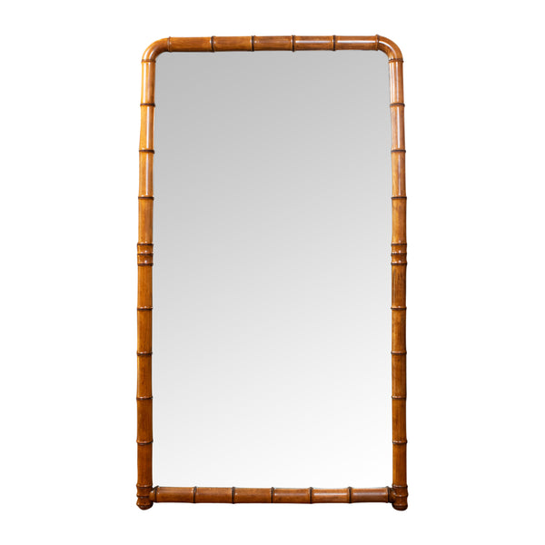 A French late 19th Century Faux Bamboo Mirror