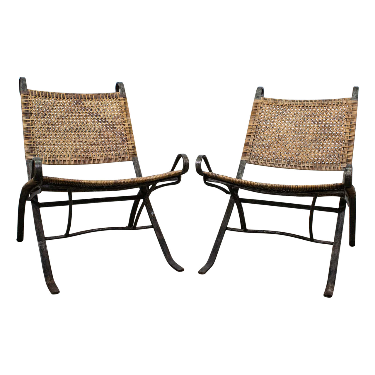 Pair of Petal Folding Chairs by Ched Berenguer-Topacio