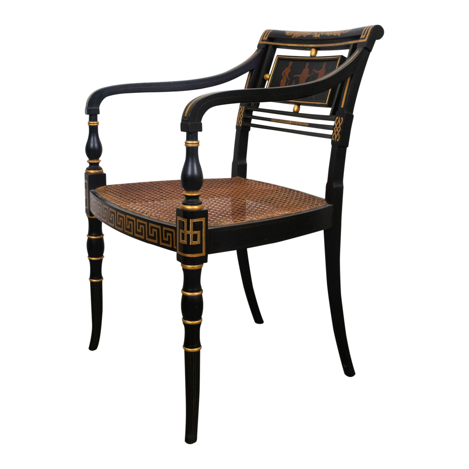 Regency Style Greek Revival Armchiar