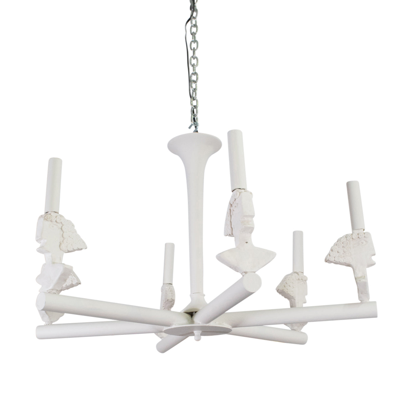 "1940s Style ""Picasso"" six light Pendant"