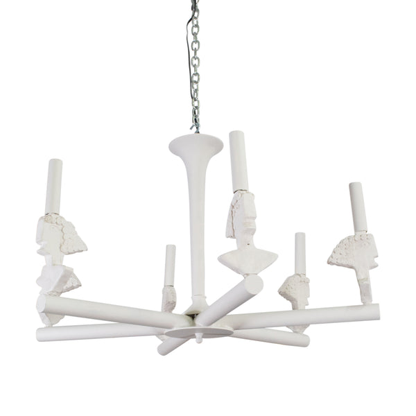 "1940s Style 6 Light ""Picasso"" Chandelier"