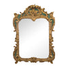 A Louis XV Style Giltwood and Green Painted Mirror