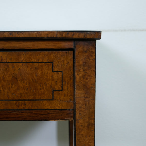 George III Burr Oak & Ebony Strung work Table