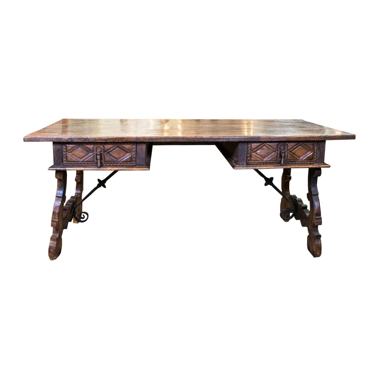 18th Century Style Spanish Walnut Desk