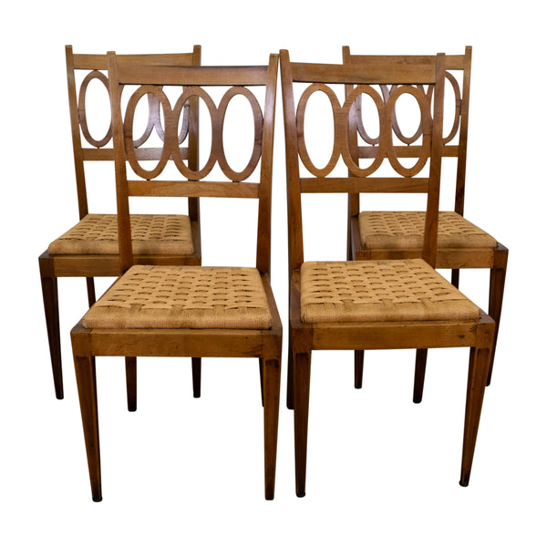 Set of four Italian Art Deco Chairs