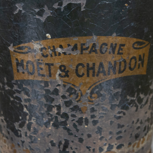 An Unusual 19th Papier Mache Moet & Chandon Champagne Bucket