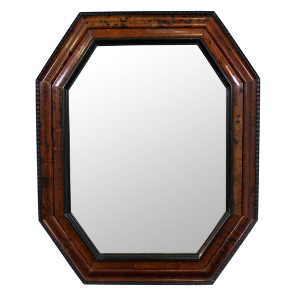 French Octagonal Tortiseshell Mirror