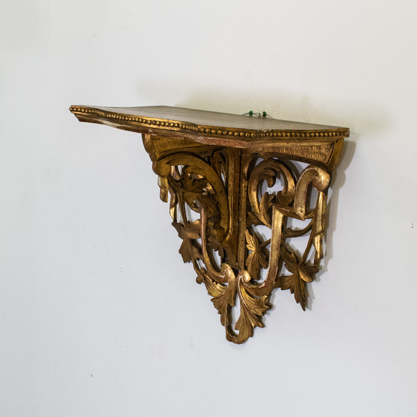 Antique Italian Giltwood Wall Bracket