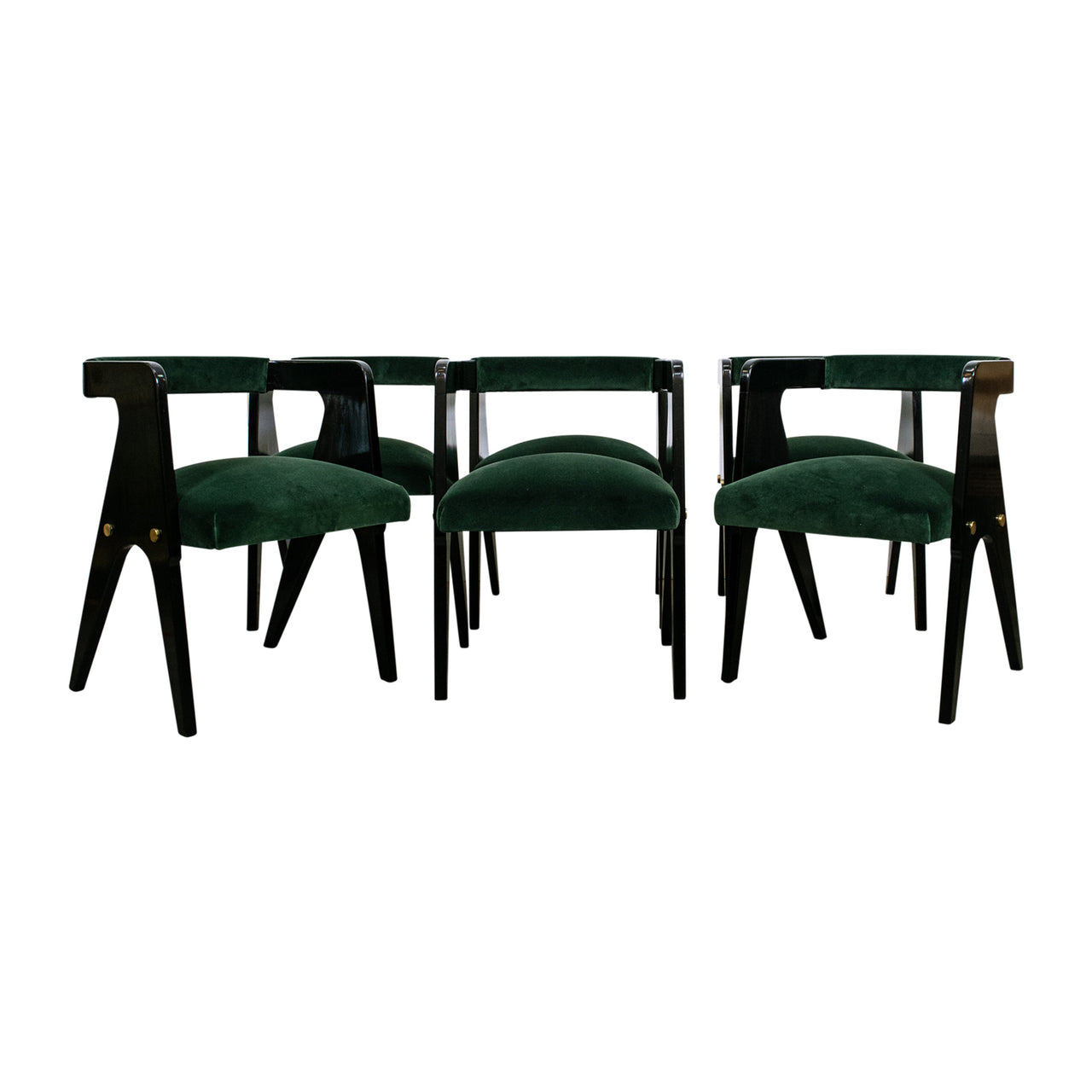 A Set Of Six Australian Mid Century Compass Chairs Attributed To