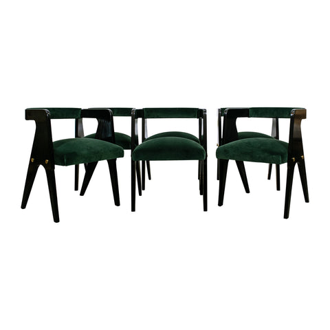 "A set of six Australian Mid Century  ""compass"" Chairs attributed to Schulim Krimper"