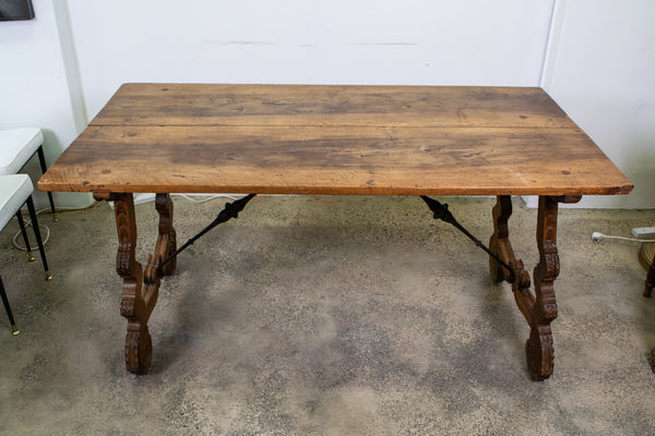 A 18th Century Spanish Walnut Trestle Table
