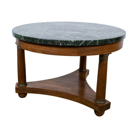 French Empire Marble Topped Cocktail/Coffee Table