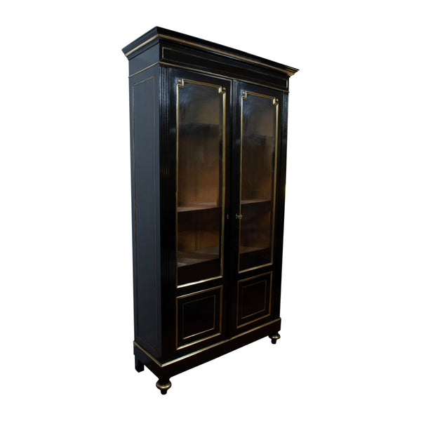 A Louis XVI Style Ebonised Two Door Cabinet