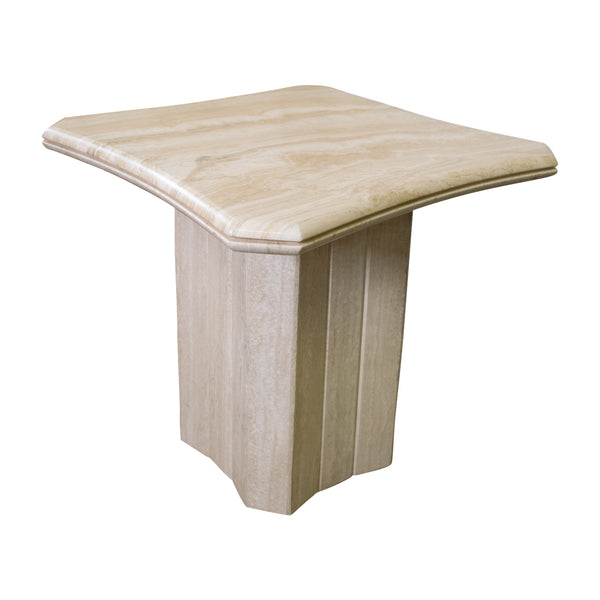 A Travertine Side Table