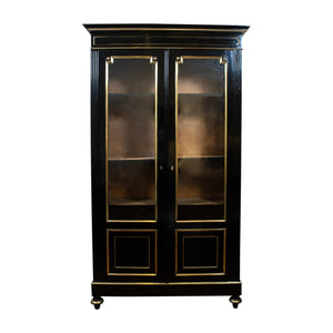 A Directoire Style Ebonised Two Door Cabinet