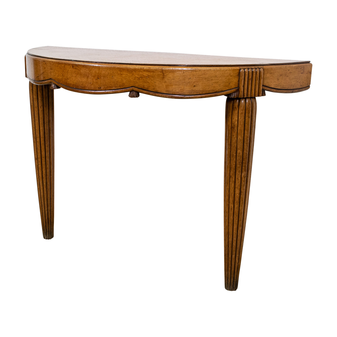 French Art Deco Demi-Lune Console Table