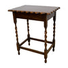 Vintage English Oak Side Table with Scalloped Top