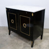 A Mid-Century Ebonised Empire Style Drinks Cabinet