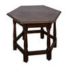English Octagonal Oak Low Table