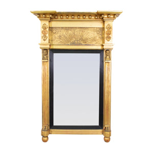 A Late 19th century Giltwood Egyptian Revival Mirror