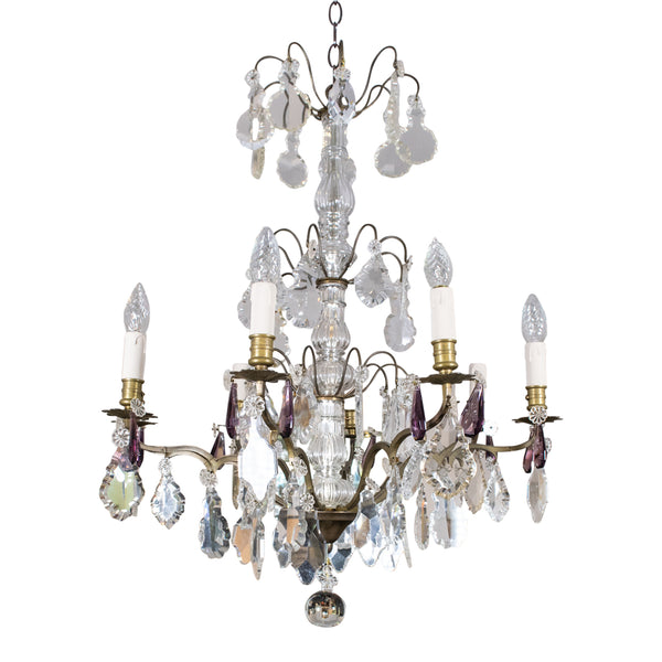 A Fine Early 20th Century Eight Branch Crystal Chandelier