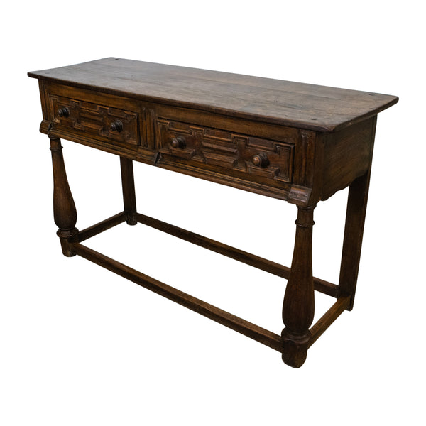 Antique English Oak Sideboard in the Charles II Style