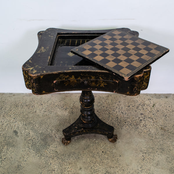 19th Century French Chinoiserie Games Table