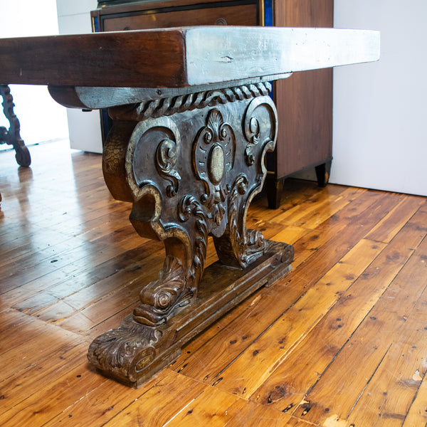 A late 19th Century Italian Renaissance Style Console Table