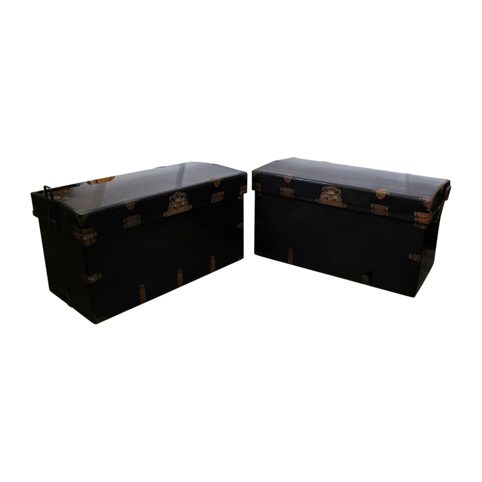 Pair of Substantial 19th Century Japanese Lacquer Chests