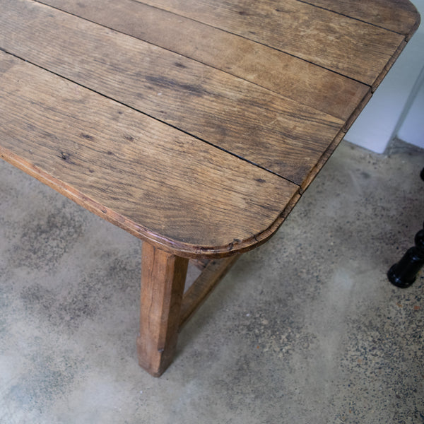 A Large 19th Century French Provincial Oak Table