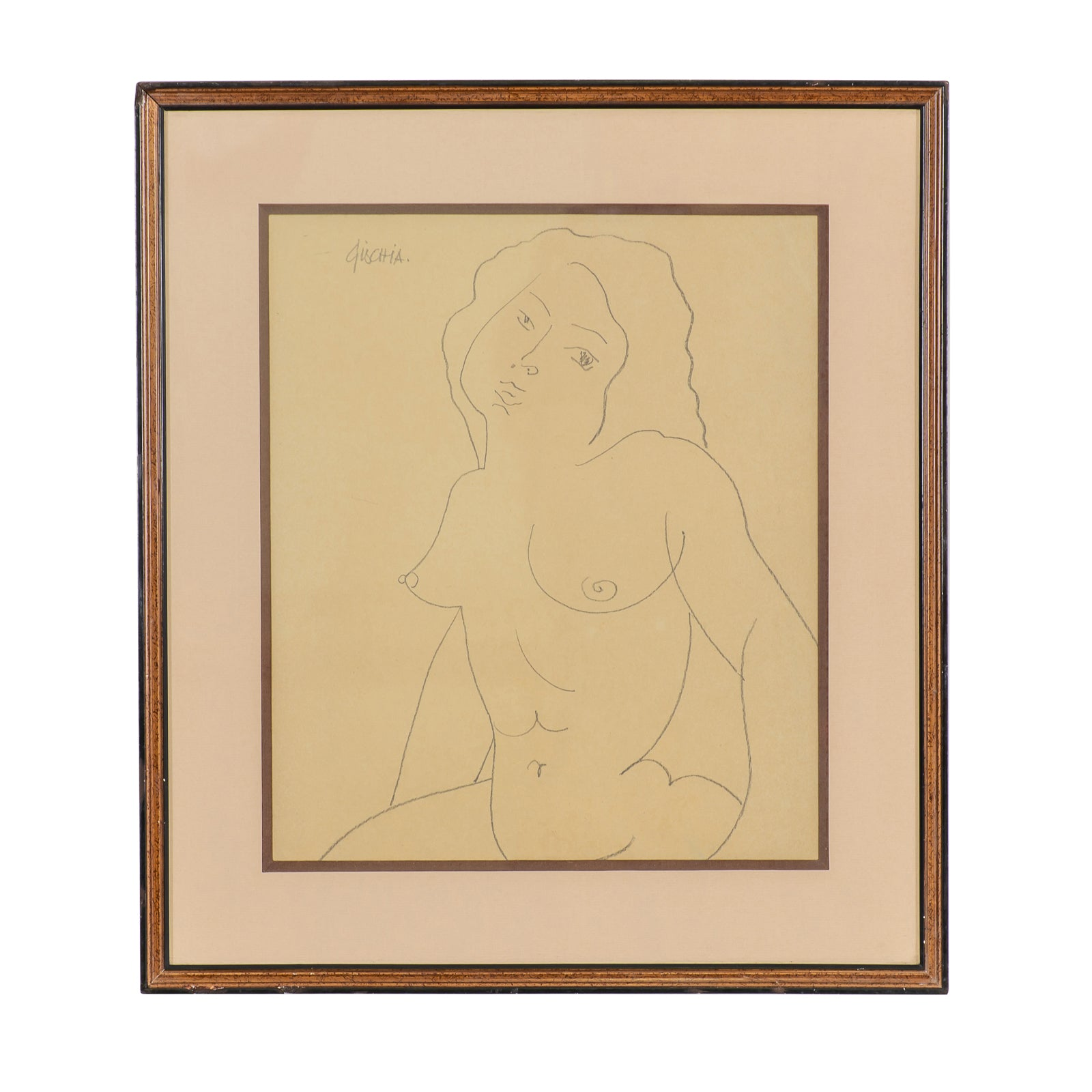 """woman in bust"" by Léon GISCHIA (1903-1991)"