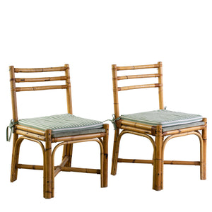Vintage Bamboo Side Chairs
