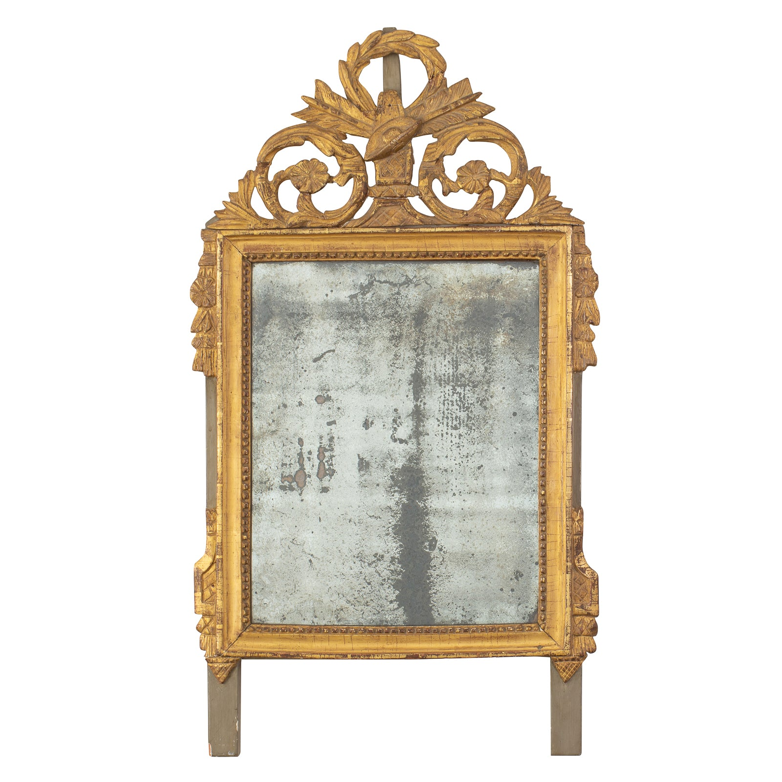 A Small Directoire Period Giltwood Mirror