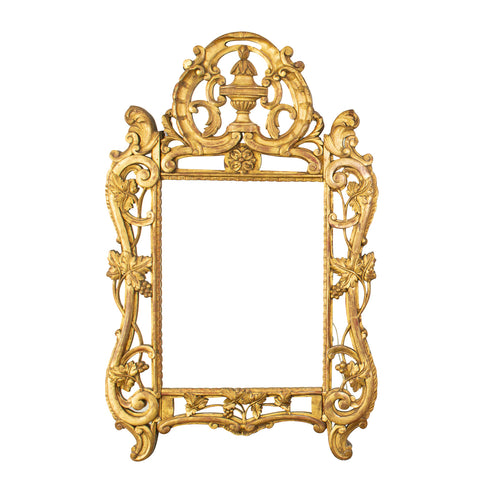 Antique Louis XV Style Giltwood Mirrror