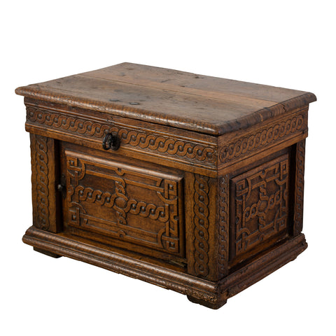 A Petite 18th Century French Oak Chest/Side Table