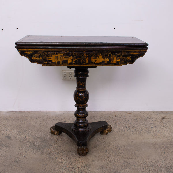 Chinoiserie Lacquer Export Games Table