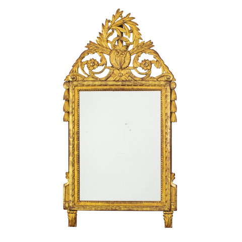 Louis XVI period Giltwood Overmantel Mirror